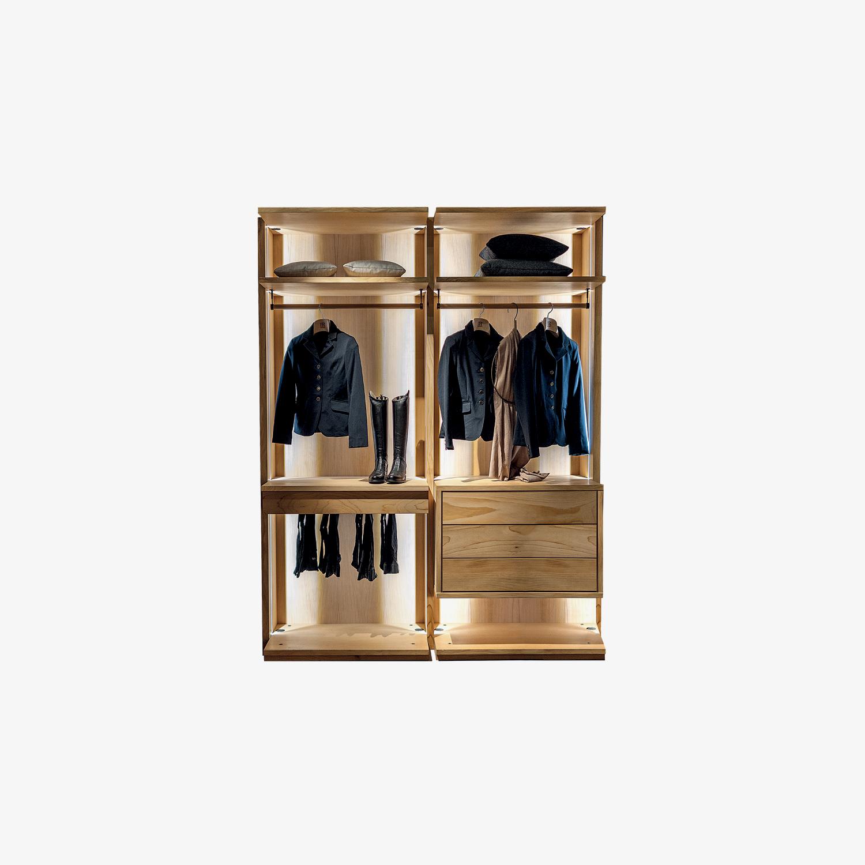 Cabina armadio legno massello e listellare AVANT OPEN