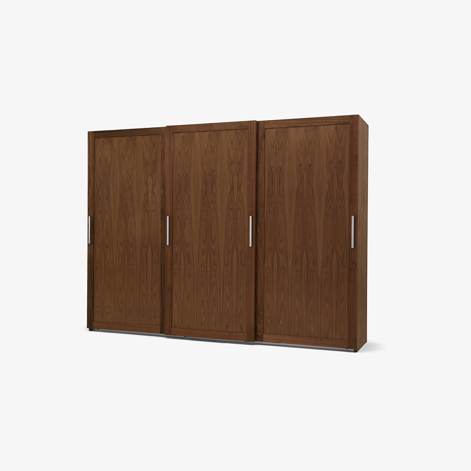 Solid wood wardrobe with aluminium sliding doors HANGAR | Solid wood wardrobe | Design wardrobe