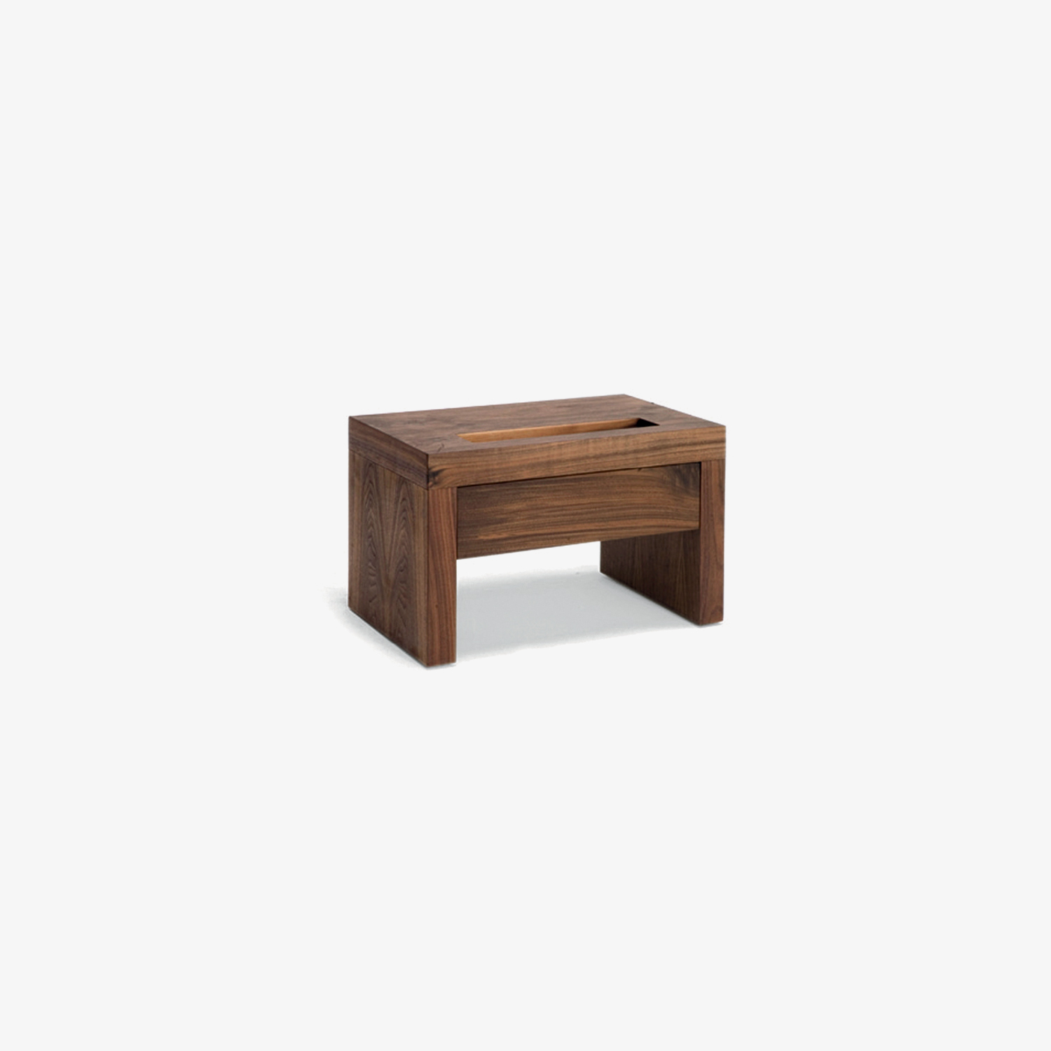 Wooden veneered nightstand with empty pockets in the top NIGHT NIGHT | Terry Dwan