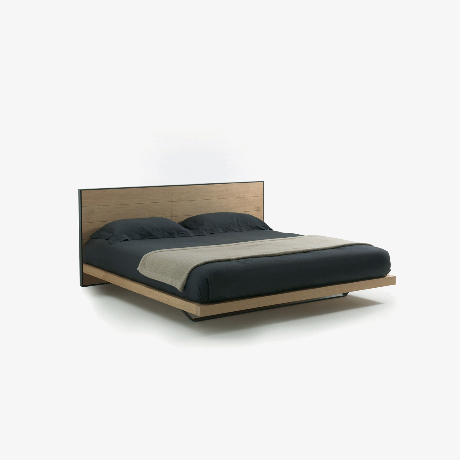 Wooden blockboard bed veneered RIALTO BED 1