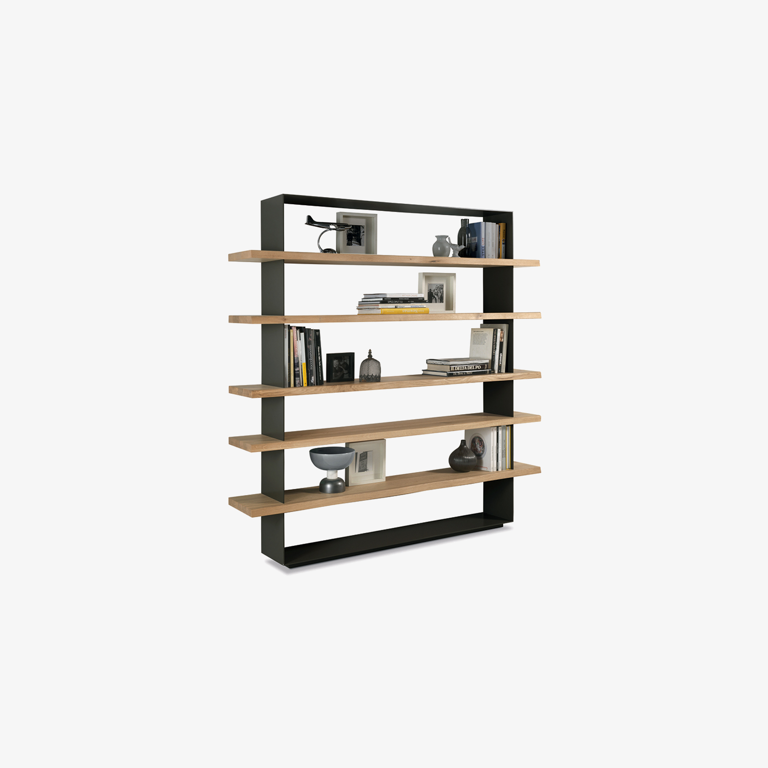 Solid wood bookcase with iron frame CRAZY | Bookcase