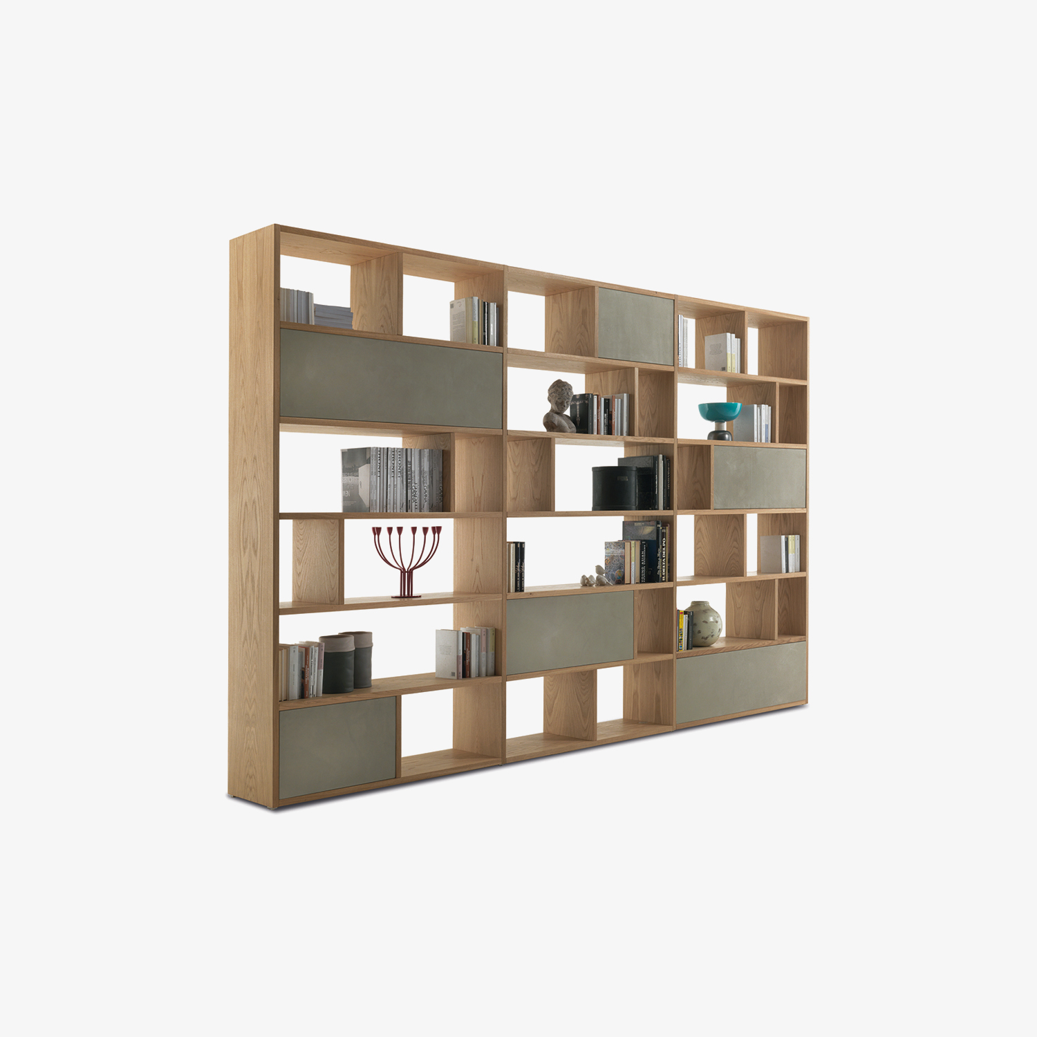 Bookshelf in solid wood and multilayer PASSWORD | Wood bookshelf | Bookshelf