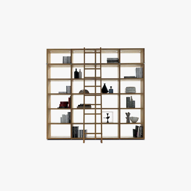 Oak bookcase WALLSTREET | Wooden bookcase | Walnut bookcase | Modular bookcase | Modern bookcase for sale