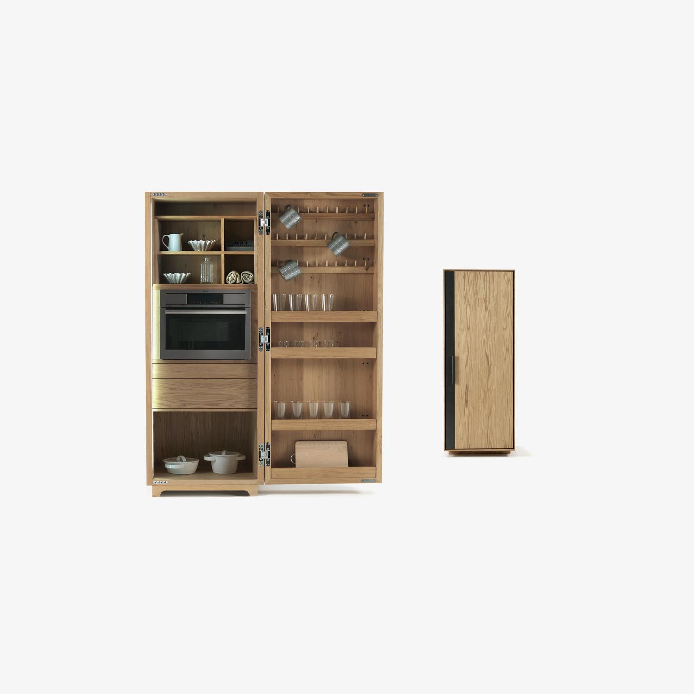 Mobile contenitore di design anta singola CAMBUSA COOK SMALL | Mobile contenitore