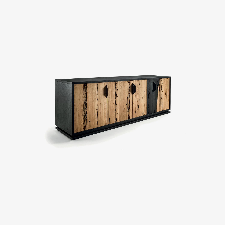 Credenza bassa in legno FIRE LOW | Mobile contenitore