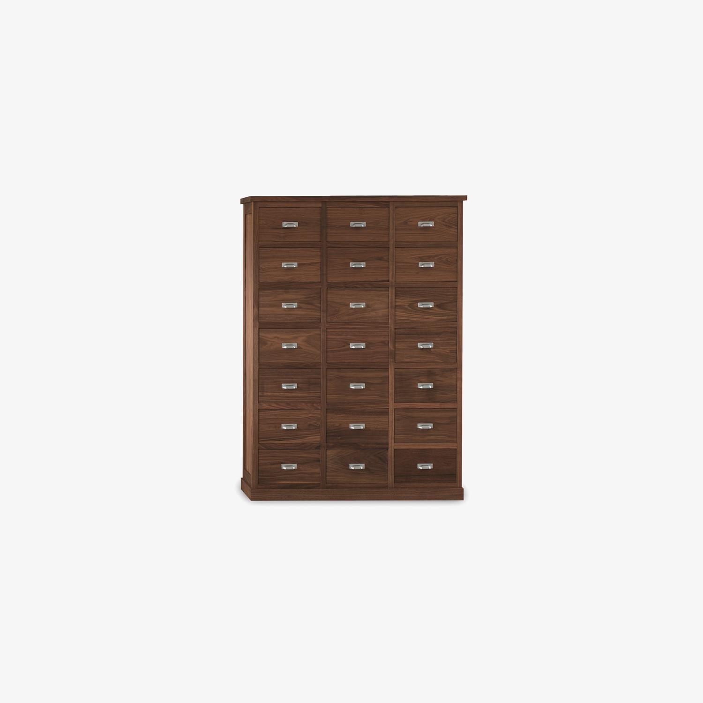 Cassettiera legno stile americano GASTONIA | Mobile contenitore