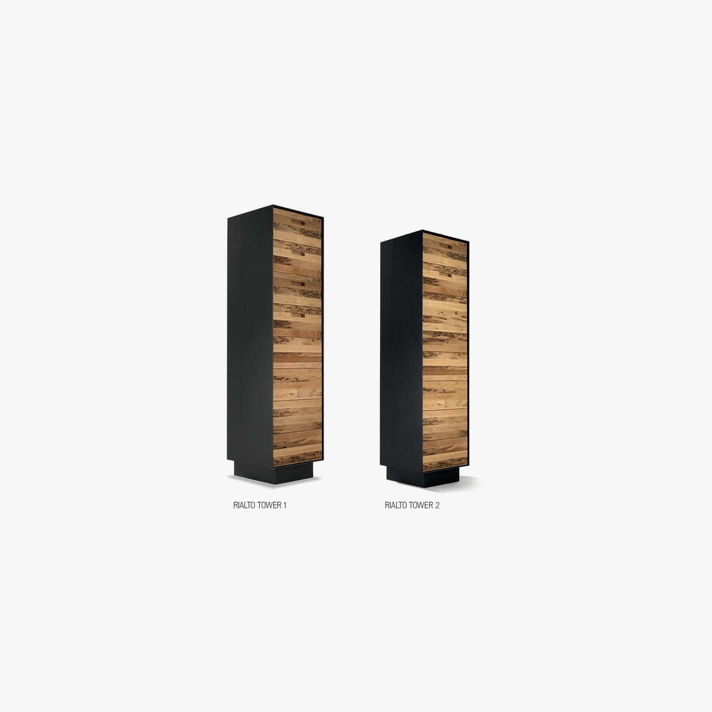 Cassettiere legno moderne RIALTO TOWER | Mobili contenitori