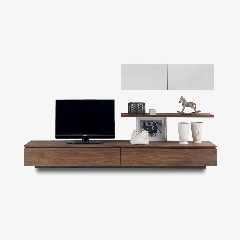 Parete attrezzata tv legno SIPARIO 11 | Mobile contenitore | Parete attrezzata moderna