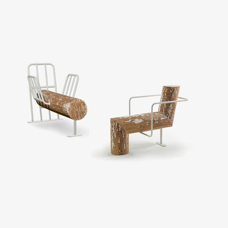 Panche in legno ANTI COMFORT | Panche di design | Poltrone