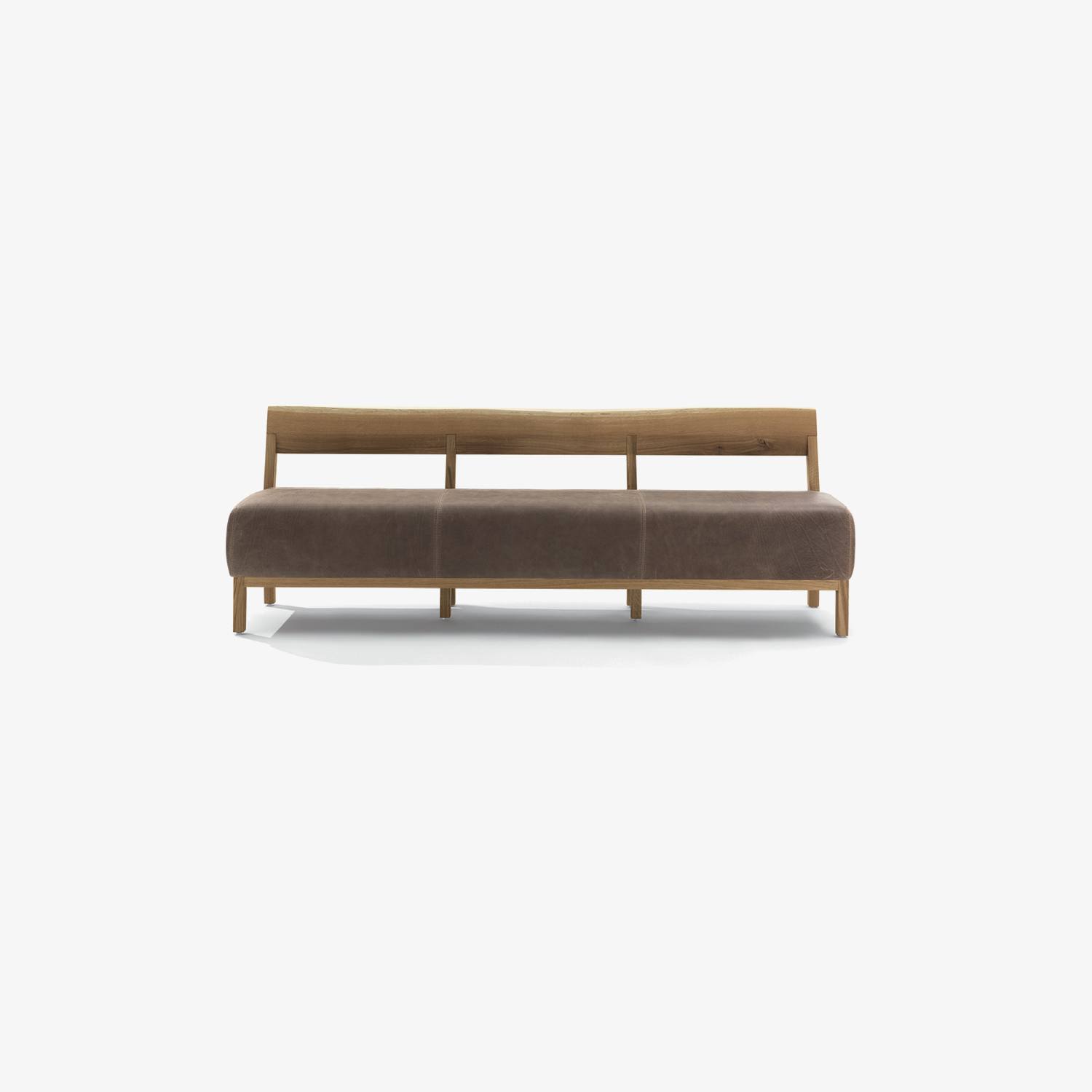 Modern bench BETTY BENCH | Solid wood and leather bench | Solid wood and fabric bench | Design bench