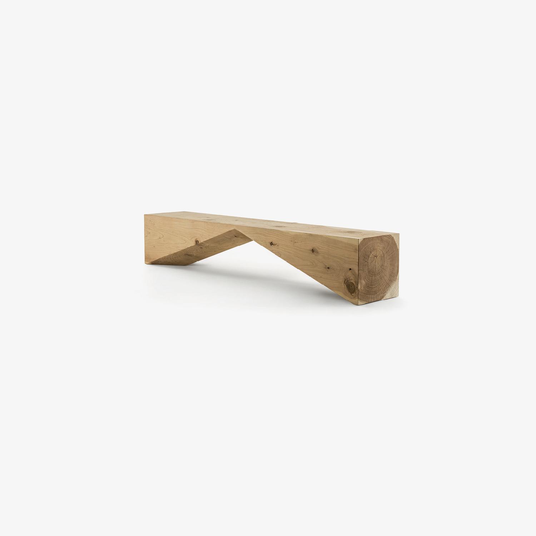 Panca in cedro BRIDGE | Panca in legno per esterni | Panca di design