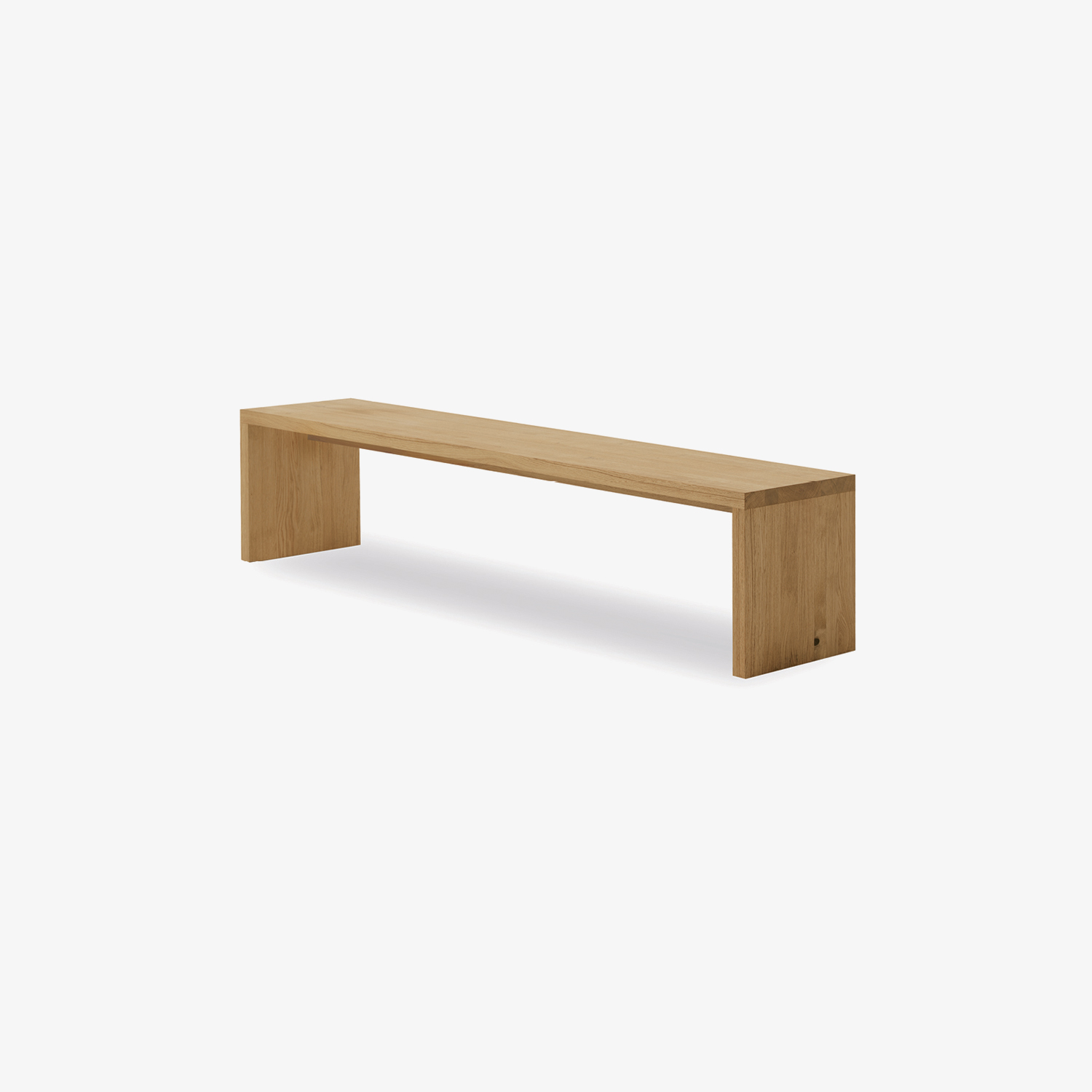 Solid wood bench NATURA 2 | Modern indoor bench | Bench