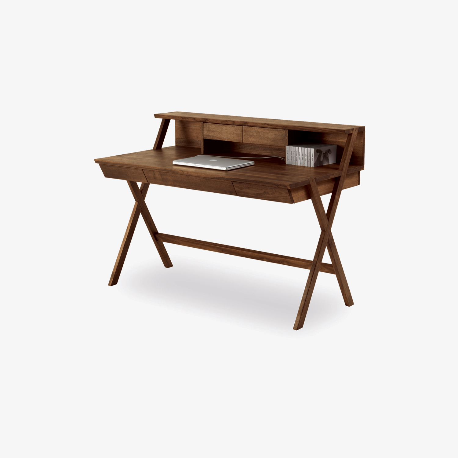 Solid wood desk NAVARRA | Cross-legged writing desk | Modern classic writing desk