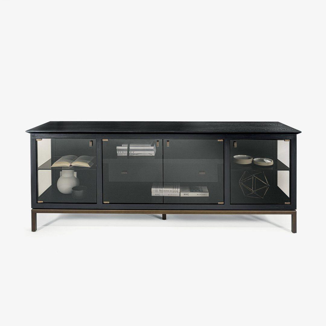 Vitrine massivholzarmes Glaseisen ADA 1.0 | Containerschrank | Holzmöbel
